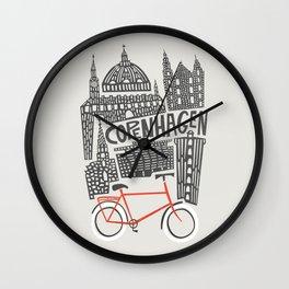 Copenhagen Cityscape Wall Clock