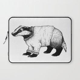 Winter Badger Laptop Sleeve