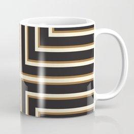 Black & Gold Stripes Coffee Mug