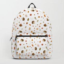 children hedgehog pattern, forest design Backpack