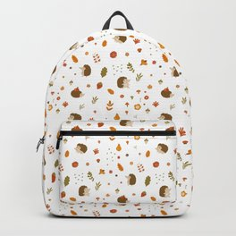 children hedgehog pattern, forest design Backpack