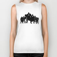 justice league Biker Tanks featuring Justice League Silhouette by iankingart