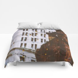 New York City Buildings and Lights (Color) Comforters
