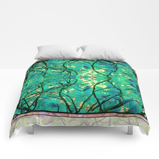 CHESTNUT FOLIAGE FANTASY ABSTRACT Comforters