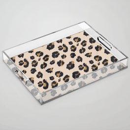B&B Leopard Design Acrylic Tray