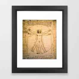 Vitruvian Man by Leonardo da Vinci Framed Art Print