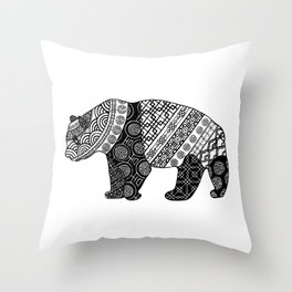 Ethnical patterns Throw Pillow