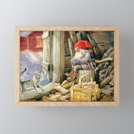 """""""In the Woodshed"""" by Jenny Nystrom Framed Mini Art Print"""