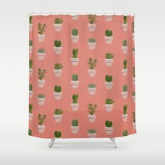 Cacti & Succulents Shower Curtain