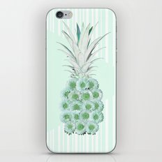 Floral Pineapple Stripes Mint iPhone & iPod Skin