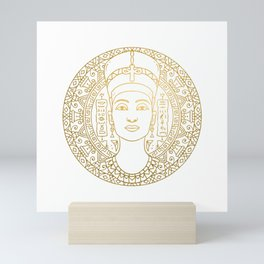 Nefertiti Mandala – Egypt Mini Art Print