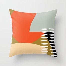 Warmer Days Throw Pillow