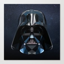 Low Poly Darth Vader Canvas Print