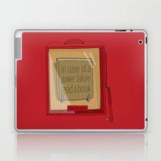 In case of a power failure: read a book Laptop & iPad Skin