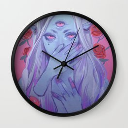 Ice Demon Girl Wall Clock