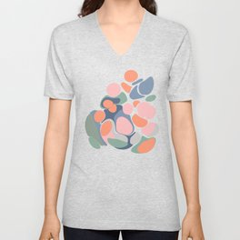 Abstract Shape Flower Art Unisex V-Neck