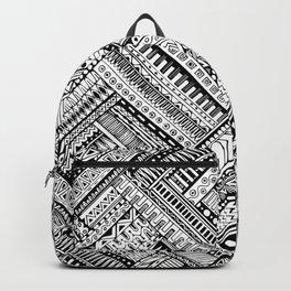 Tribal Ethnic Style  Black & White Backpack