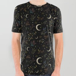 Crescent Moon Garden All Over Graphic Tee