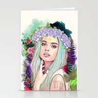 virgo Stationery Cards featuring Virgo by Sara Eshak