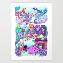 Stardew Valley - All My Friends Are Here Art Print