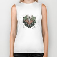 camouflage Biker Tanks featuring CAMOUFLAGE by GEEKY CREATOR