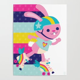 Jammer Bunny Rosa Poster