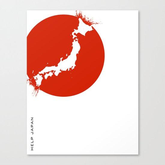 Save Japan! Canvas Print