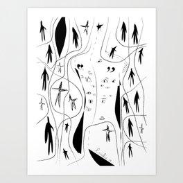 Eyes on my back - Emilie R. Art Print