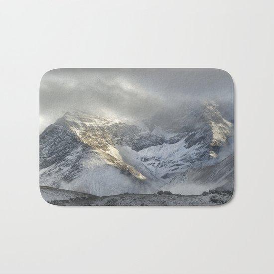 """Storm at the mountains"" Wilderness Bath Mat"