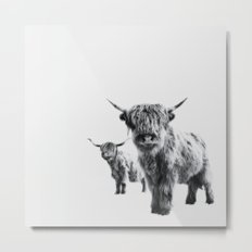 LULU & SARA - Scottish Highland Cows Metal Print