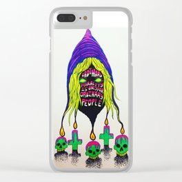 crowley wisdom 1 Clear iPhone Case