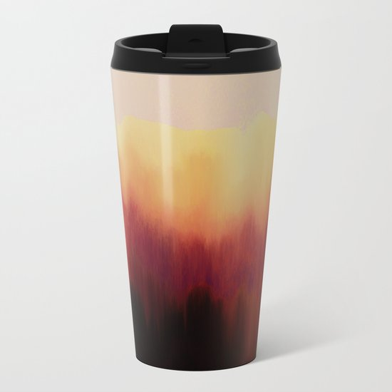Forest Fire Metal Travel Mug