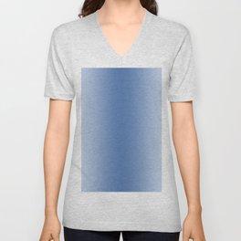 Pastel Blue to Blue Vertical Bilinear Gradient Unisex V-Neck