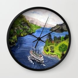 River Boat Journey Wall Clock