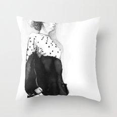 Fashion Illustration – Hana Cha S/S 2013 Throw Pillow