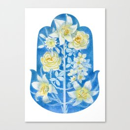 "hamsa ""shining white"" Canvas Print"