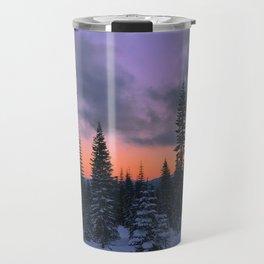 Mount Shasta Sunset Travel Mug