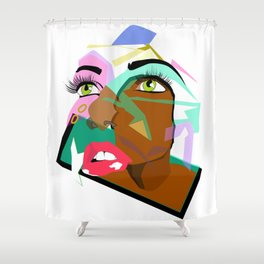 Anyone: I N  B L A C K  Shower Curtain