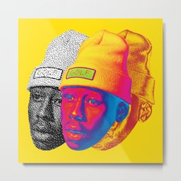 Tyler the Creator Odd Future OFGWKTA Glitch Art Metal Print