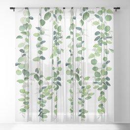 Eucalyptus Garland  Sheer Curtain