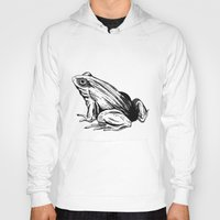 frog Hoodies featuring Frog by Aubree Eisenwinter