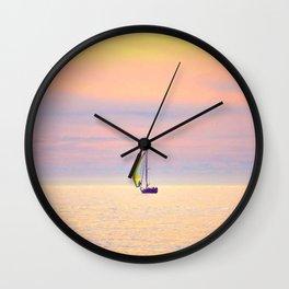 Sunset Sailing Wall Clock