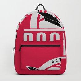 Rockets custom vintage basketball red logo Backpack