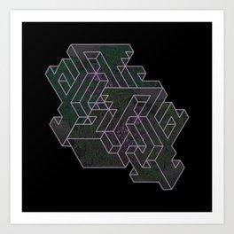 Distorting Darkness Art Print