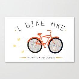 Love Where You Bike  Canvas Print