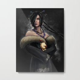 Final Fantasy X Lulu Painting Portrait Metal Print