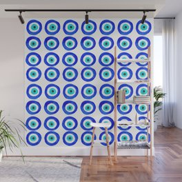 Evil Eye Amulet Talisman - on white Wall Mural