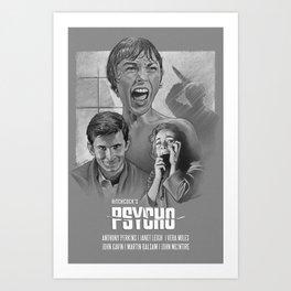 Psycho (1960) Art Print