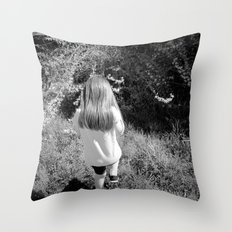 Pickin' Flowers In The Sun Throw Pillow