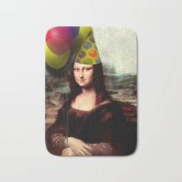 Mona Lisa Birthday Girl Bath Mat